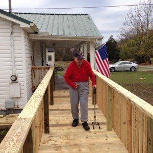 Boyd using ramp